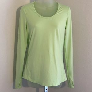 Athleta Long Sleeve Top With Thumb Holes